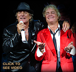Rod Stewart and Danny D singing together